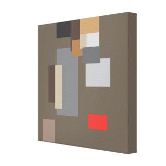 Random Abstract Art Design Stretched Canvas Print