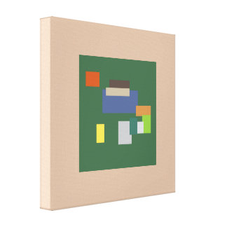 Random Abstract Art Design Green Canvas Print