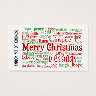 Random Act of Kindness Christmas Cards