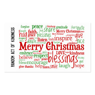 Random Act of Kindness Christmas Cards Double-Sided Standard Business Cards (Pack Of 100)