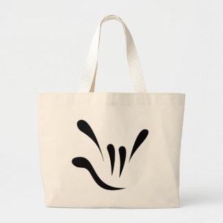 Random Acts of ILY - Black Jumbo Tote Bag