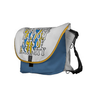 Random Acts of Insanity custom messenger bag