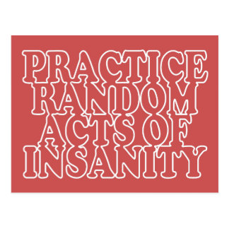 Random Acts of Insanity custom postcards