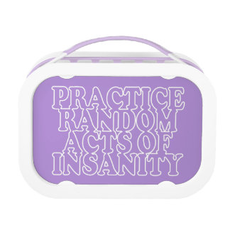Random Acts of Insanity lunch boxes
