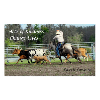 Random Acts of Kindness Cards - Cowboy Roundup Pack Of Standard Business Cards