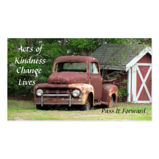 Random Acts of Kindness Cards - The Truck Double-Sided Standard Business Cards (Pack Of 100)