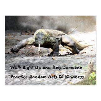 Random Acts of Kindness - Komodo Dragon (0751) Postcard