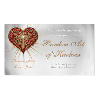 Random Acts of Kindness Personal wallet cards - Business Card Templates