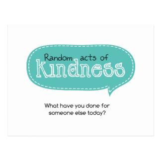 Random Acts of Kindness Postcard