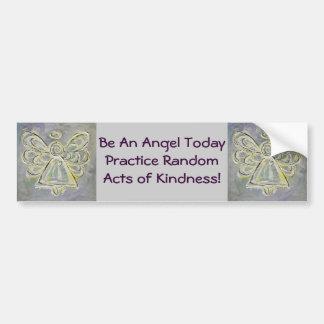 Random Acts of Kindness White Angel Bumper Sticker