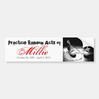 Random Acts of Millie Bumper Sticker