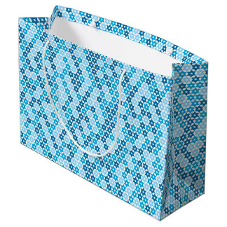 Random Blue Star Of David Large Gift Bag
