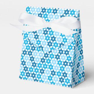 Random Blue Star Of David Wedding Favour Box