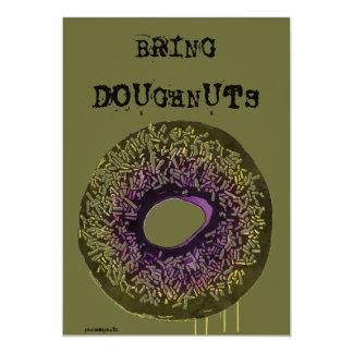 "Random ""Bring Doughnuts"" Invitation"