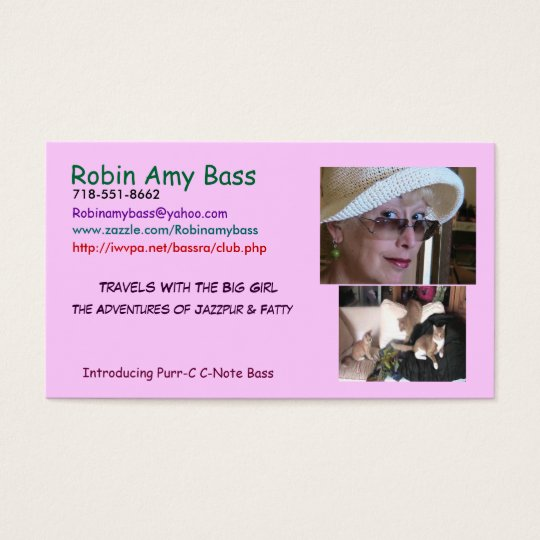 RANDOM CATS IN HAIRBALL ALLEY BUSINESS CARD