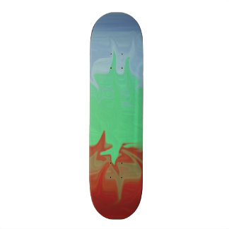 Random colored pattern 21.6 cm old school skateboard deck