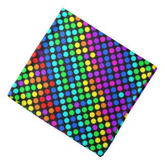 Random Colored Polka Dot Pattern Bandana
