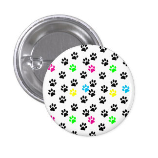Random Colorful Cat Paws 001 Pins