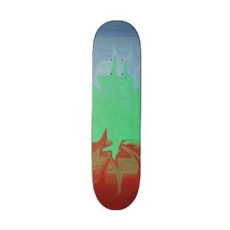 Random colorful pattern skate board decks