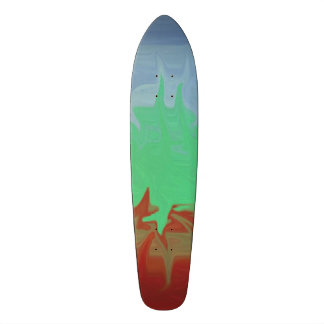 Random colorful pattern skateboard