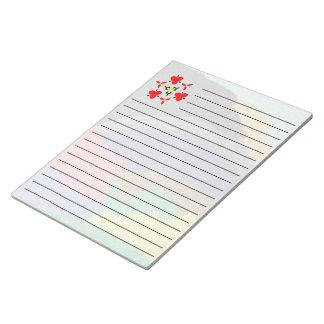 Random colorful unique pattern notepad