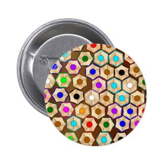 Random Coloured Pencils 6 Cm Round Badge