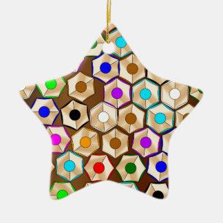 Random Coloured Pencils Ceramic Star Decoration