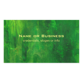 Random Forms Green Abstract Painting Pack Of Standard Business Cards