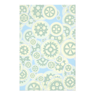 Random green gearwheels stationery