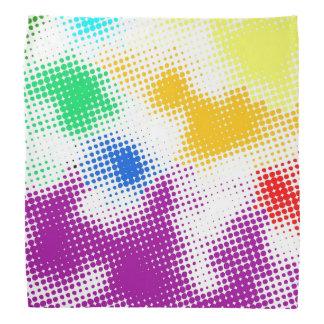 Random halftone colorful background bandana