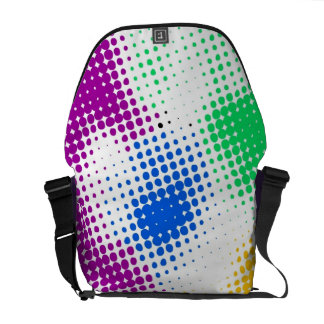 Random halftone colorful background courier bag