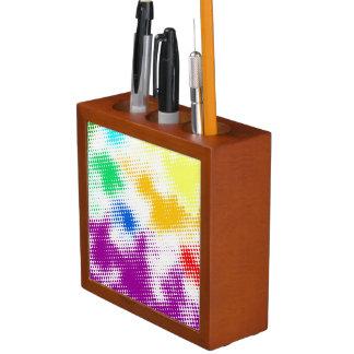 Random halftone colorful background desk organiser