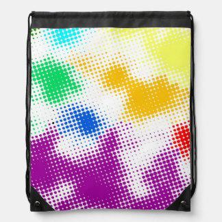 Random halftone colorful background drawstring bag