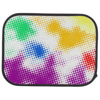 Random halftone colorful background floor mat