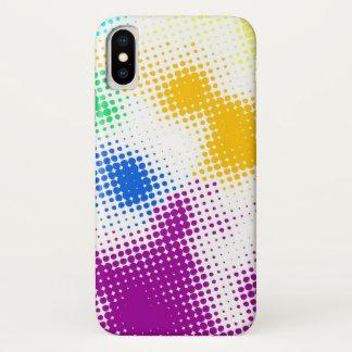 Random halftone colorful background iPhone x case