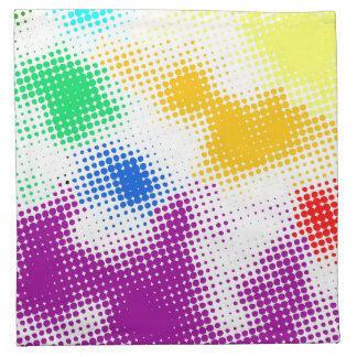 Random halftone colorful background napkin