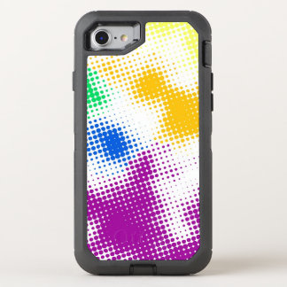 Random halftone colorful background OtterBox defender iPhone 8/7 case