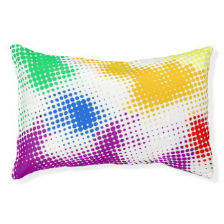 Random halftone colorful background pet bed