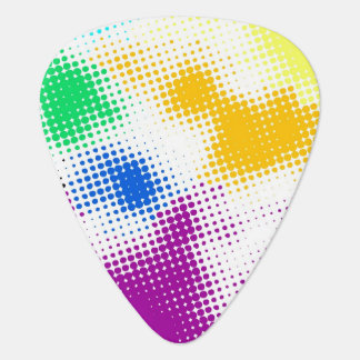 Random halftone colorful background plectrum