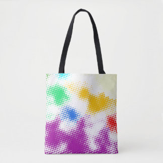 Random halftone colorful background tote bag