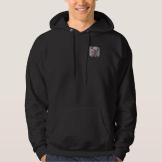Random Horns Grunge Colour Logo Hooded Sweat Hoodie