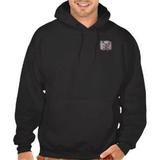 Random Horns Grunge Colour Logo Hooded Sweat Sweatshirt
