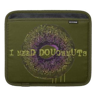 """Random """"I Need Doughnuts"""" iPad Sleeve"""