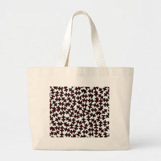 Random Jigsaw Pieces Large Tote Bag
