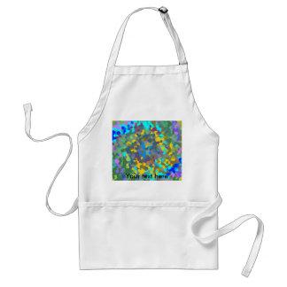 Random multicolored crystals adult apron