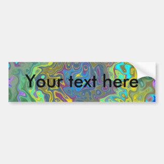 Random multicolored swirling psychedelic vortex bumper stickers