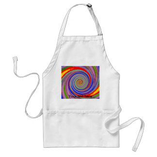 Random multicolored swirling vortex adult apron