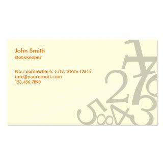 Random Numbers Bookkeeper Business Card