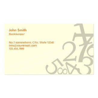 Stylish business cards for accountants and finance professionals random numbers bookkeeper business card colourmoves
