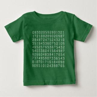 Random Numbers - White on Dark Baby T-Shirt